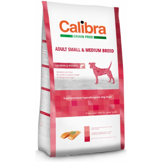 Calibra Dog GF Adult Medium & Small Salmon 12 kg