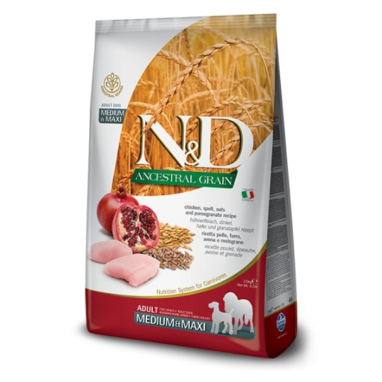 N&D Dog Low Grain Adult Medium & Maxi Chicken & Pomegranate 12kg