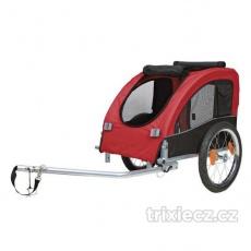 Trixie Vozík pre psa za bicykel M 45x48x74cm do 30 kg červený