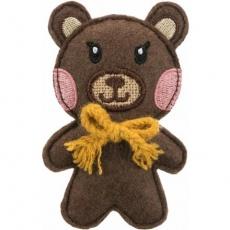 BEAR - medvěd, šustící hračka pro kočky s katnipem, 10cm, plsť