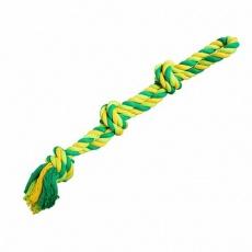 Dvojité lano HipHop bavlněné 3 knoty 60 cm / 450 g limetková, zelená