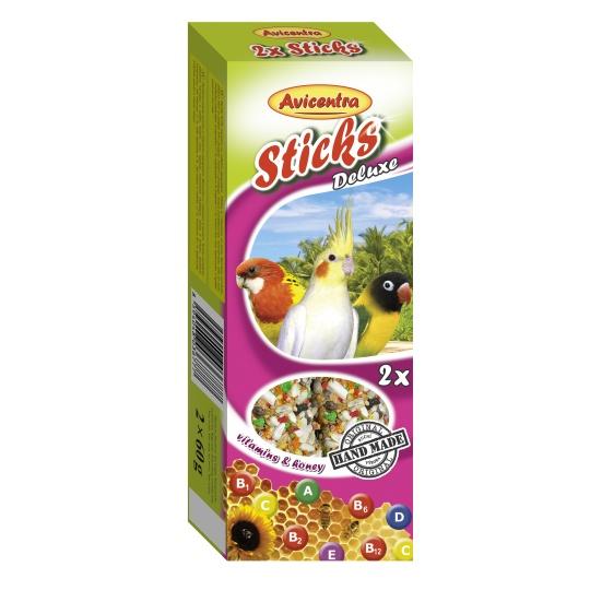 Avicentra Tyčinky deluxe s vitam. a medom pre malých papagájov ( 2 ks) 120 g