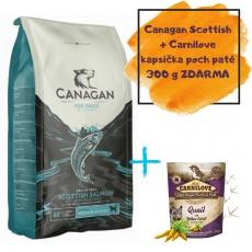 CANAGAN Scottish Salmon 12 kg + Carnilove pouch paté kapsička 300g darček  + DOPRAVA ZADARMO