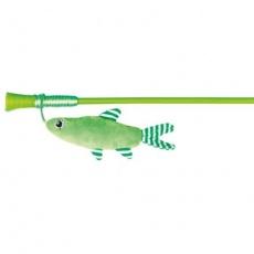 Udice s rybkou, zelená 42 cm