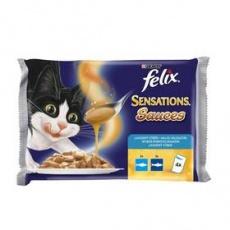 Felix Sensations Cat Multipack Treska v paradajkovej omáčke  a Sardinky v mrkvovej omáčke 48 x 100 g