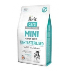 Brit Care Dog Mini Grain Free Light & Sterilised  7 kg